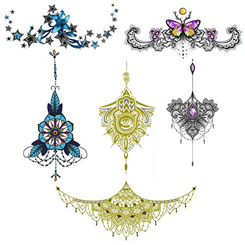 Temporary Tattoo Sleeve Jewelry Design Body Temporary Art Personalized Flash Fashon Tribal Tattoos Stickers Long Lasting for Women Sexy from Nuosheng