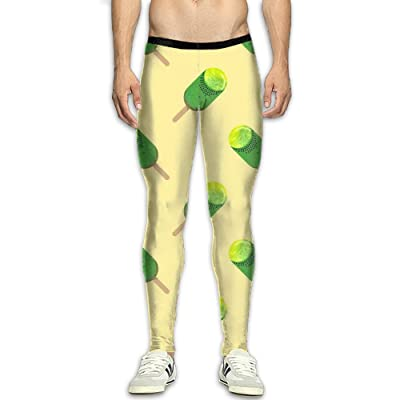 NSYGCK Cute Popsicle Compression Pants Men Colorful Tights Leggings Athletic Gym Tights For Men