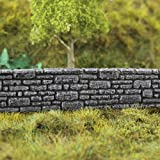 War World Gaming Farm Stone Wall Pre-Painted x 3