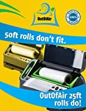 """11"""" x 25 Rolls (Fits Inside Machine) - 4 Pack (100 feet total) OutOfAir Vacuum Sealer Rolls for Foodsaver and Other Savers. 33% Thicker, BPA Free, FDA Approved, Sous Vide, Commercial Grade"""