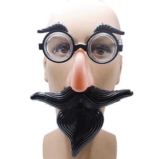 Amosfun - Gafas de Bigote y Nariz, Gafas de Sol Divertidas, Gafas ...