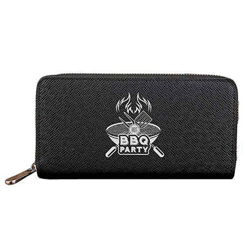 Long Fashion Purse Barbecue Party PU Wallets Cit Card Clutch Huge Storage Capacity -
