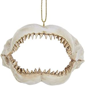 "Kurt Adler 2 375"" Resin Shark Jaws Ornament"