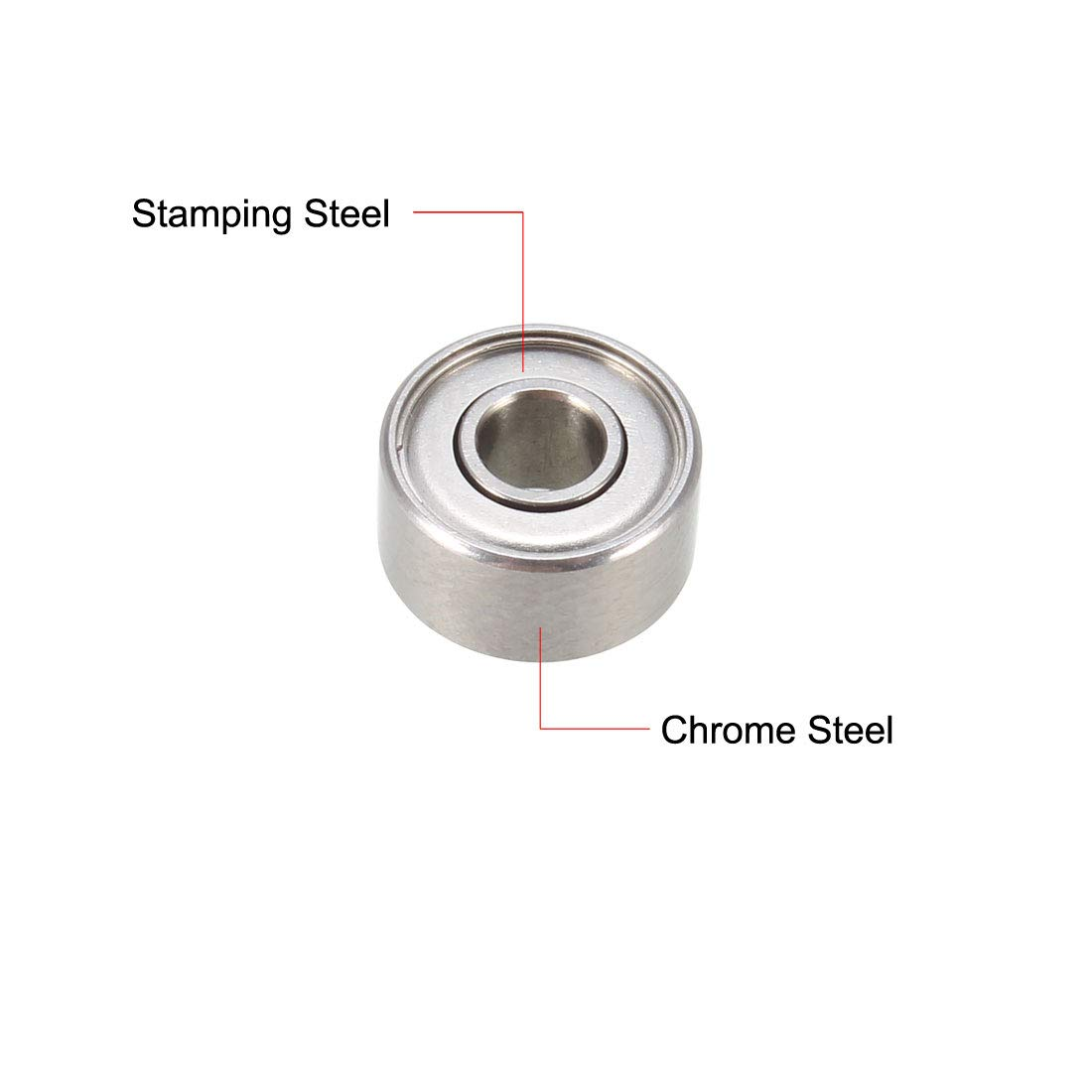 20 PCS Flange Metal Double Shielded Ball Bearing Bearings F696zz 6x15x5 mm