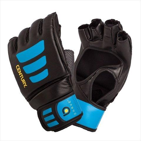 Bravo Gloves (Century Brave Open Palm Gloves, Black/Blue, Large/X-Large)