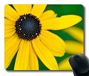 Black Eyed Susan Mouse Pad Desktop Laptop Mousepads Comfortable Office Mouse Pad Mat Cute Gaming Mouse Pad by Maris's Diary
