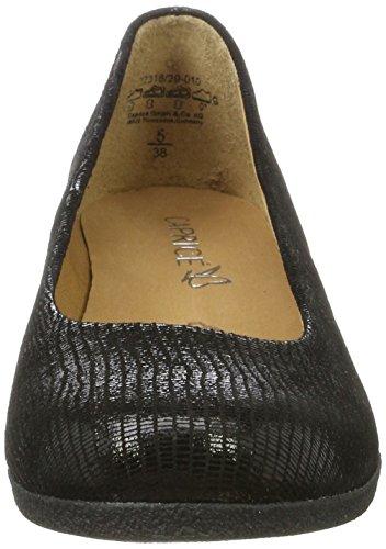 Mujer Bailarinas 22318 Negro Caprice Reptile para Black tqZfnSHw