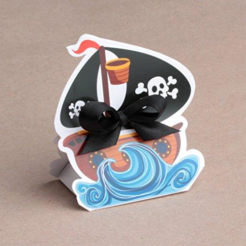 Ballotins à dragées - boites à dragées boites forme bateau de pirate x10 mariage baptême communion anniversaire
