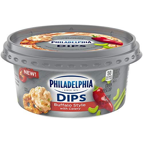 Philadelphia Dips Buffalo Style with Celery Cream Cheese Dip, 10 oz Tub