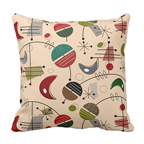 Emvency Throw Pillow Cover Mid Century Modern Atomic Abstract In Cream Decorative Pillow Case Retro Home Decor Square Cushion Pillowcase 51dZTM4YkQL