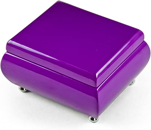 Vibrant Hi – Many Songs to Choose – Gloss Lavender Purple Musical Keepsake Jewelry Box Planetarium