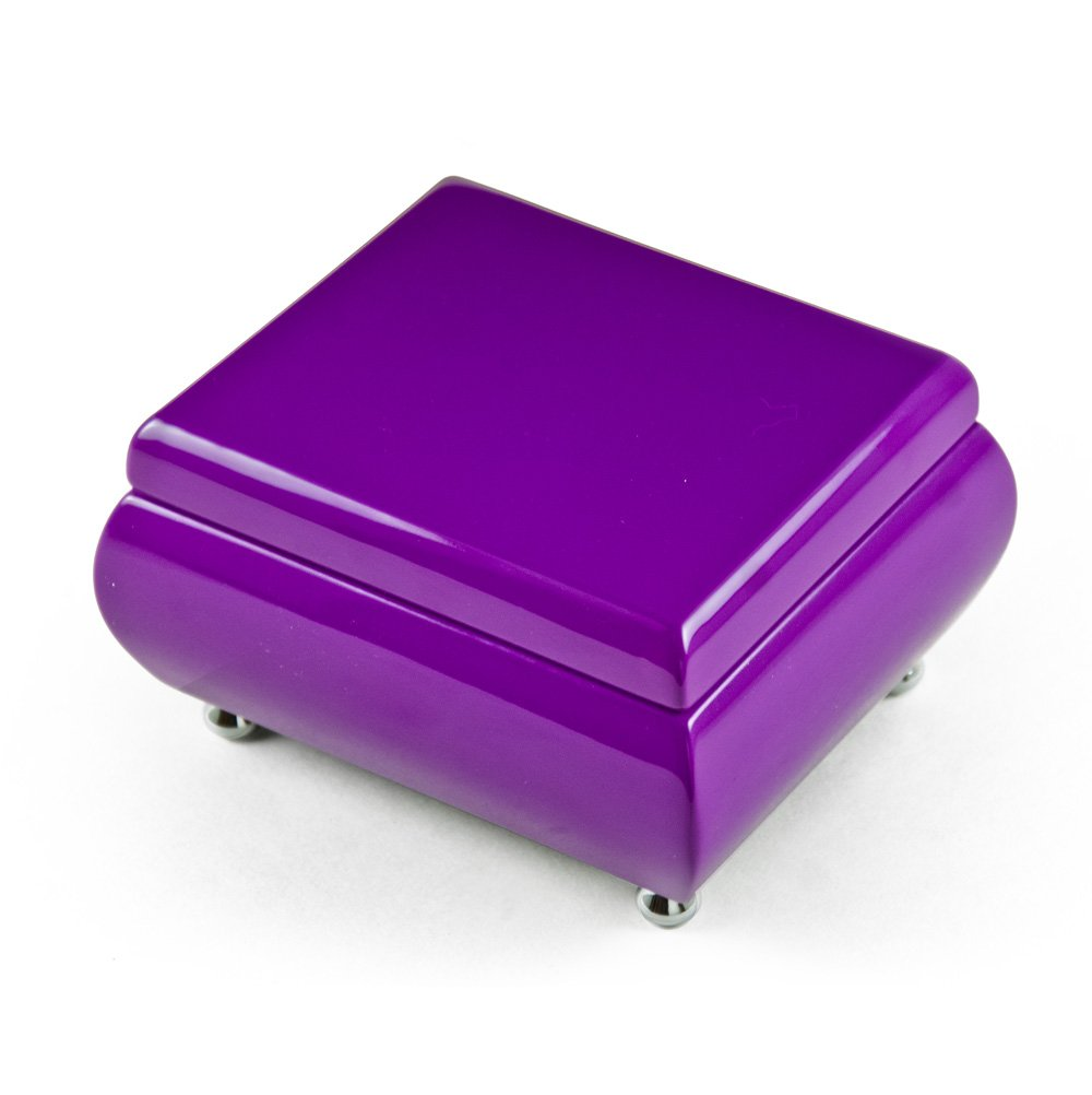 Vibrant Hi - Over 400 Song Choices - gloss Lavender (purple) Musical Keepsake Jewelry Box School Oays