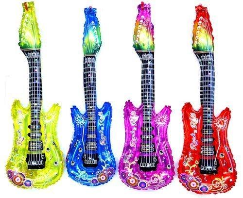 12 x Aufblasbare Luftgitarre Luft Gitarre Luftgitarren mit Glocke