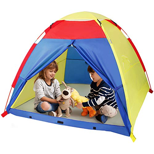 WolfWise Portable Kids Play Tent Toddler Boys Girls Indoor Outdoor Games Playhouse Promotes Early Learning Social Bonding Imagination Building Roleplay
