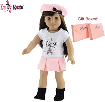 Pink Pleated Skirt Fits 18 inch American Girl Dolls