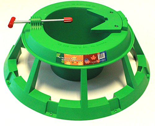 Cloracks One Screw Stand, Christmas Tree Stand for Live Trees up to 11' Tree, Green Base (Leg Christmas Treestand)