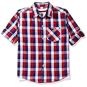 612 League Boys' Checkered Regular Fit Shirt