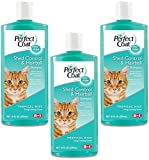 (3 Pack) 8In1 Pet Products Perfect Coat Shed and Hairball Control Cat Shampoo, 10-Ounce Each