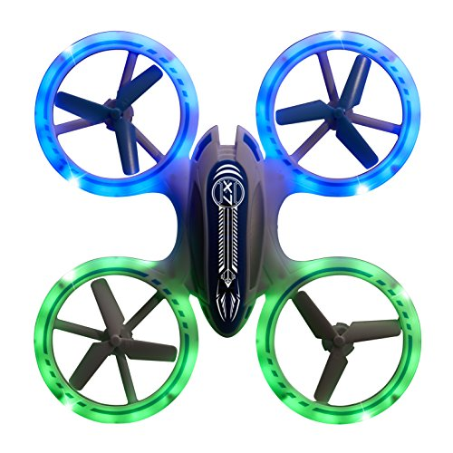 Odyssey Toys X-7 Microlite features advanced design, 2.4 Ghz transmitter, 360 flips, and 3 speed levels. Fly it day or night, indoors or outdoors - up to 325 away! by Odyssey