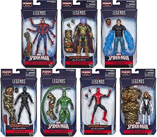 Husbro Spider-Man Far from Home Marvel Legends Wave 12 Figure Assortment Action Figure Assortment 12 Figures