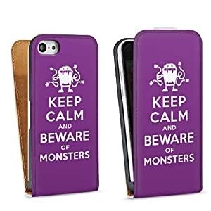 Diseño para Apple iPhone 5C DesignTasche Downflip white - Keep calm and beware of Monsters