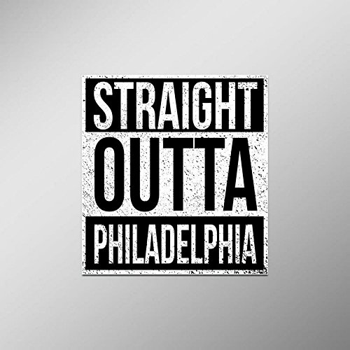 Straight Outta Philadelphia Vinyl Decal Sticker | Cars Trucks Vans SUVs Laptops Walls Windows Cups | Full Color | 4.5 X 5 Inches | KCD2098
