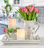 """White LED Flameless Pillar Candles, 2 Pack, 4"""" x 6"""" Wax Candle Set, Melted Edge, Warm Light - Remote & Batteries Included"""