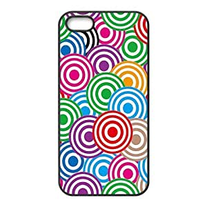 Colorful simple spiral pattern Phone Case for iPhone 5S(TPU)