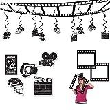TCS Party Bundles Movie Awards Night Decoration 16 Piece Bundle Ceiling Decor Cutouts Photo Fun Frame