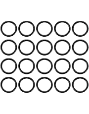uxcell Nitrile Rubber O-Rings 14mm OD 11mm ID 1.5mm Width, Metric Sealing Gasket, Pack of 20