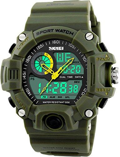 SKMEI 1029 Sport Digital Watches Army Green - 2