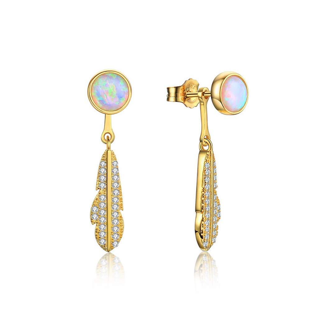 925 Sterling Silver Dangle Earrings Asymmetry for Women, Peace Dove Feather 2019 Trendy Fashion Tasteful Elegant Jewelry,Best Gifts for Her, Girlfriend, Wife