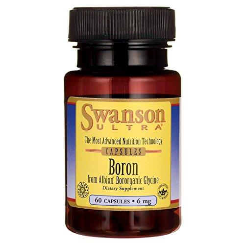 Swanson Boron from Albion Boroganic Glycine 6 Milligrams 60 Capsules