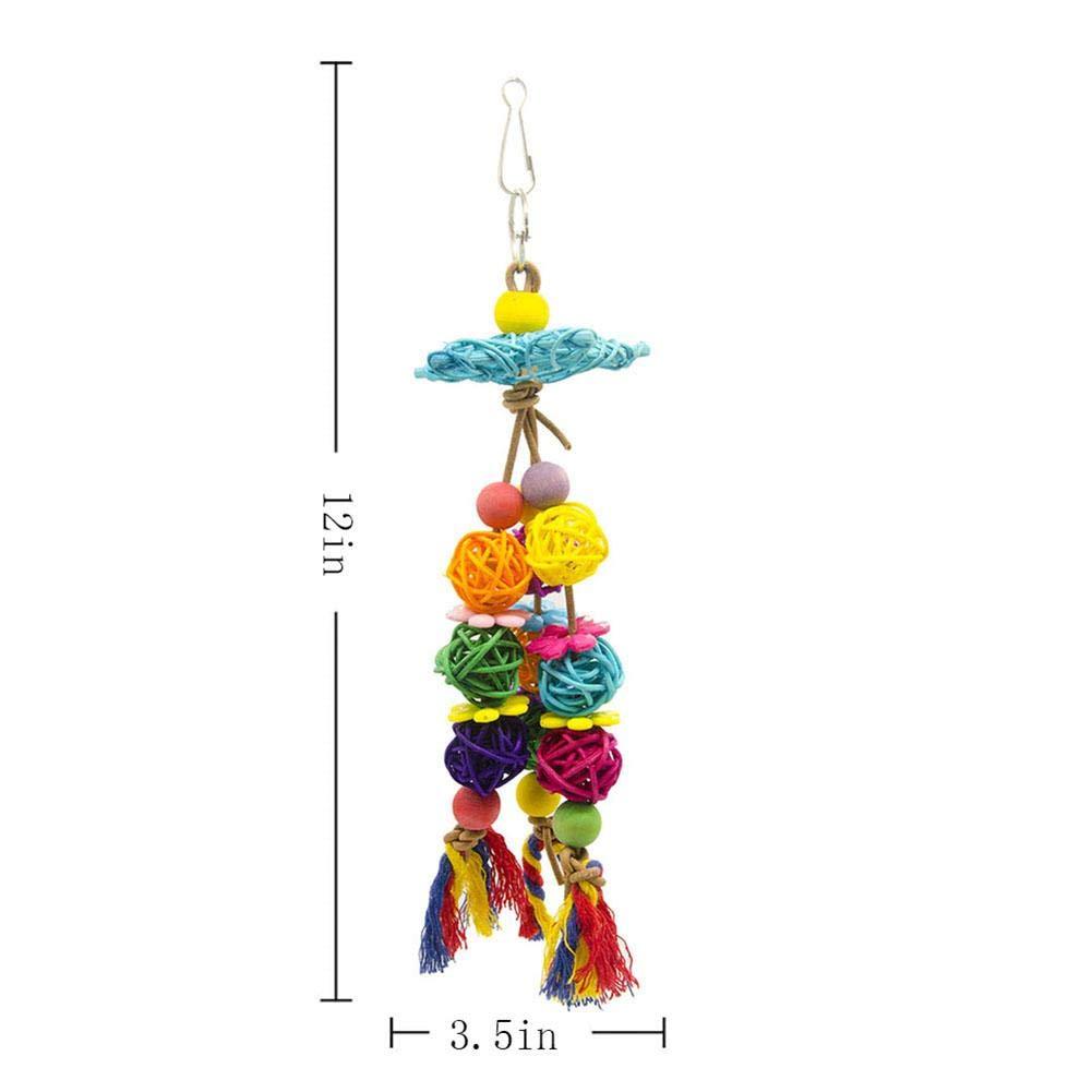 Colorido Juguete De Jaula Para Masticar Para Pájaros Papagayos ...