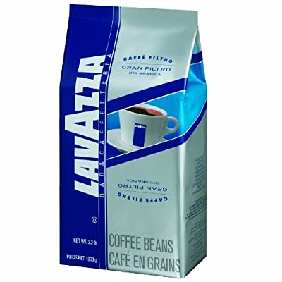 Lavazza Gran Filtro Whole Bean Coffee Blend, Medium Roast, 2.2-Pound Bag