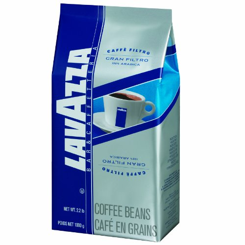 Lavazza Gran Filtro Whole Bean Coffee Blend, Medium Roast, 2.2-Pound Bag