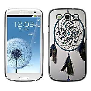 - Dream Catcher - - Monedero pared Design Premium cuero del tir¨®n magn¨¦tico delgado del caso de la cubierta pata de ca FOR Samsung Galaxy S3 I9300 I9308 I737 Funny House