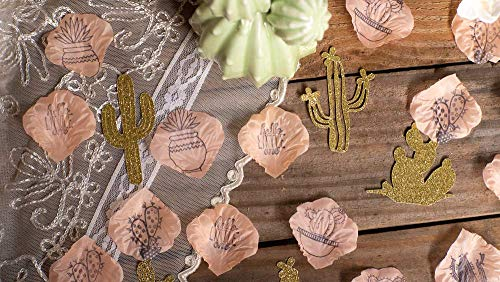 Cactus Baby Shower Decoration for Girl, Cactus Themed Baby Shower Ideas, Cake Table Decorations Coral 125 pieces