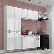 Cozinha Compacta 4 Peças 10 Portas Branco Neve Amanda Itatiaia