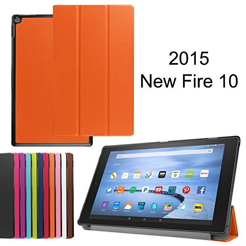 """Photo - Fire 7 case, Fire 7 2015 case, Asstar Ultra Slim Lightweight Impact Resistant Armor Kickstand Defender Cover for Amazon Fire 7 Tablet (will only fit Fire 7"""" Display 5th - 2015 release) (Orange)"""