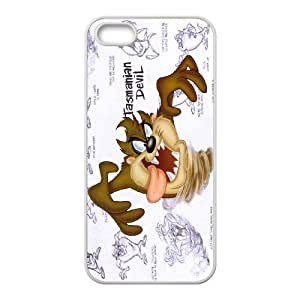Custom Cell Phone Case iPhone 5 5s SE White Case Cover Cartoon Looney Tunes Taz 12QQ4694105
