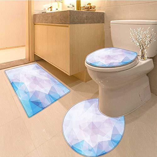 (MikiDa Bathroom Non-Slip Rug Set vector background from polygons abstract background wallpaper in Bath Mat Bathroom Rugs)