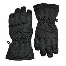 Kids Black Ski & Snowboard Gloves - From Age 4 - 12 (Kids Small Age 4-6)