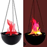 Dikley Flame Lamp Simulation Flame Light Electronic Hanging Brazier Lamp Halloween Party Decorative