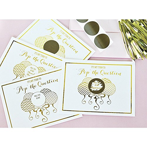Pop The Question Bridesmaid and Maid of Honor Cards - Set of 8