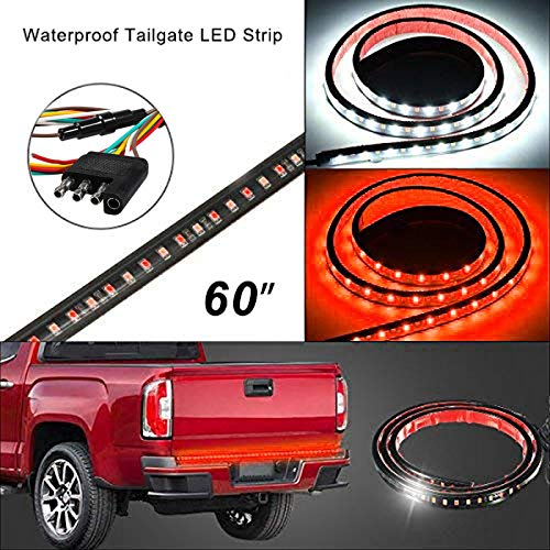 Danti Waterproof 60 Red//white Tailgate LED Strip Light Bar Reverse Brake Turn Signal Tail for Ford GMC Toyota Nissan Honda Truck SUV 4x4 Dodge Ram Chevy chevrolet Avalanche Silverado wenwen top YH-YHL34