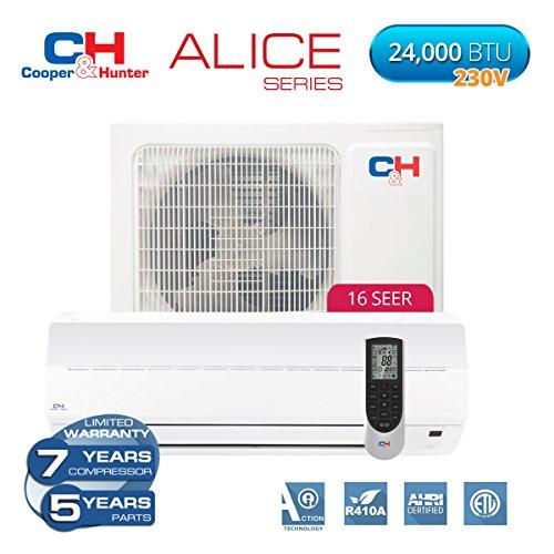 Cooper & Hunter Alice 24,000 BTU 230V Mini Split Ductless Air Conditioner Heat Pump 16 SEER Review