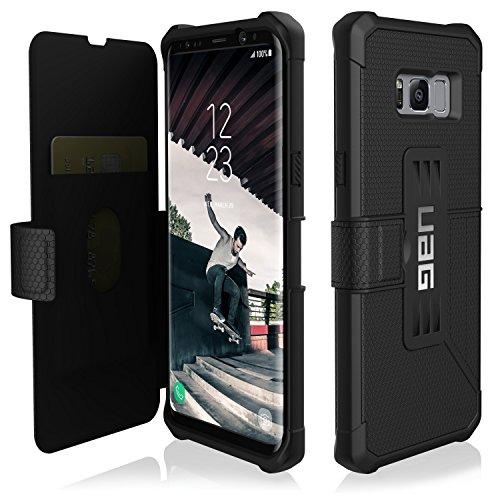 URBAN ARMOR GEAR [UAG] Samsung Galaxy S8+ [6.2-inch Screen] Metropolis Feather-Light Rugged [Black] Military Drop Tested Phone Case