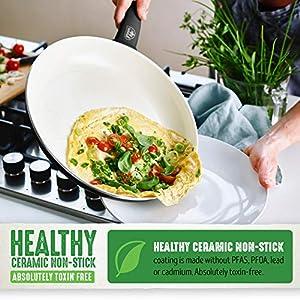 GreenLife Soft Grip Ceramic Non-Stick Cookware Set