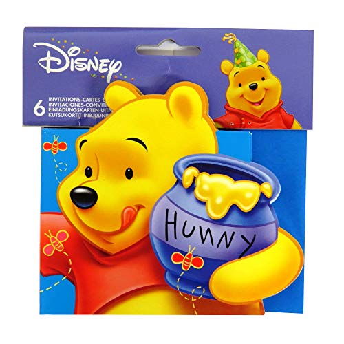 Partyrama 6 Winnie The Pooh Party Invitations with Envelopes]()